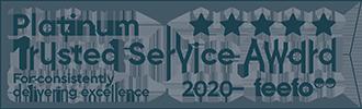 Feefo Blue Banner Logo, Croner Taxwise